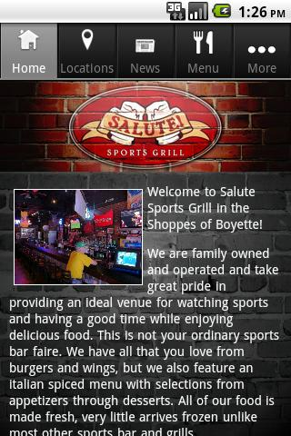 Salute Grill - screenshot