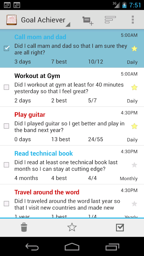 Goal Tracker - Habit Calendar - screenshot