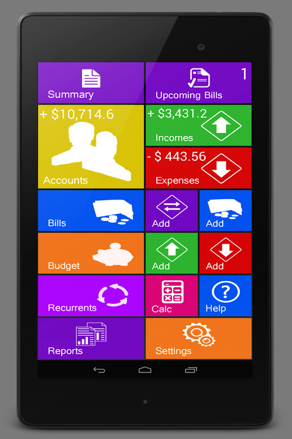 Home Budget Manager Lite Android Apps On Google Play