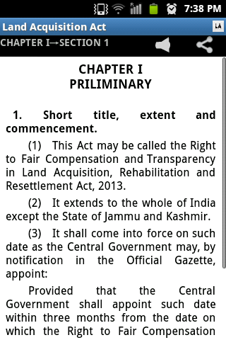 Land Acquisition Act 2013- screenshot
