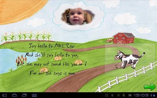 Screenshot of Cow Says Moo - Poetry for Kids