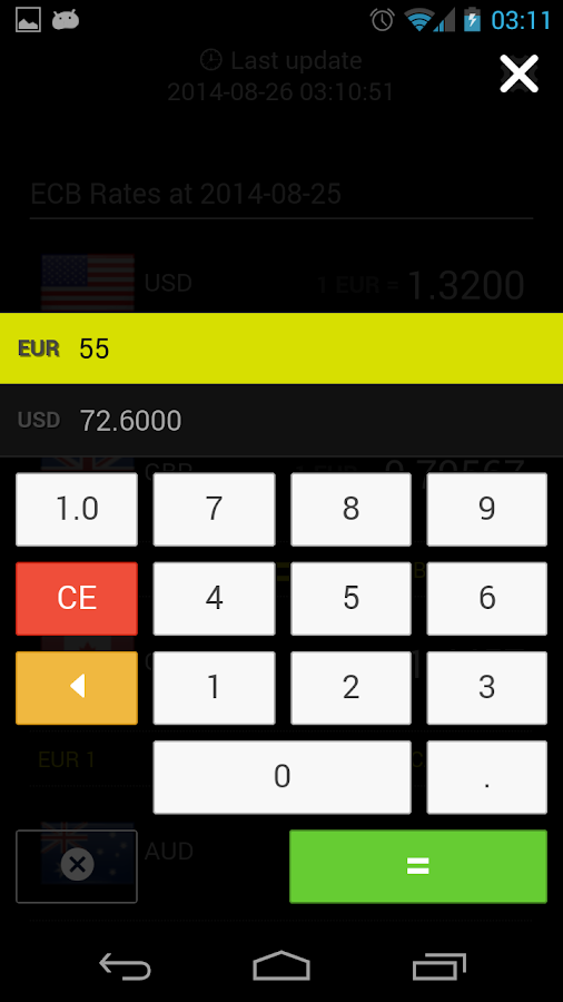 a.Currency Converter ECB- screenshot
