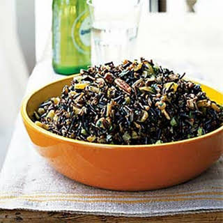 Wild Rice Salad with Dried Fruit and Orange-Sherry Vinaigrette.