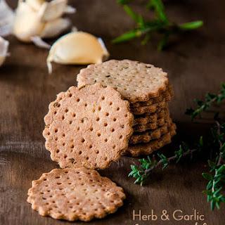 Herb and Garlic Amaranth Crackers