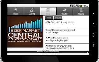 Screenshot of Beef Market Central for Tablet