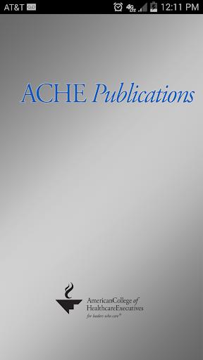 ACHE Publications