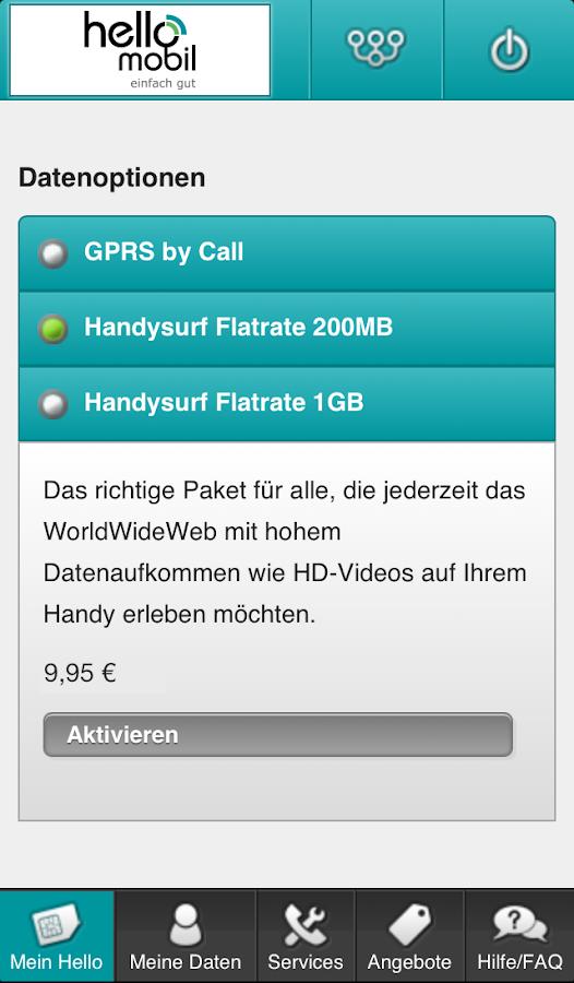 helloMobil Servicewelt - screenshot