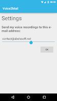 Screenshot of Voice2Mail