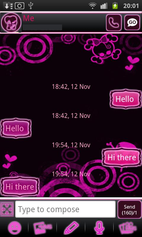 Emo Punk Go Sms Pro - screenshot