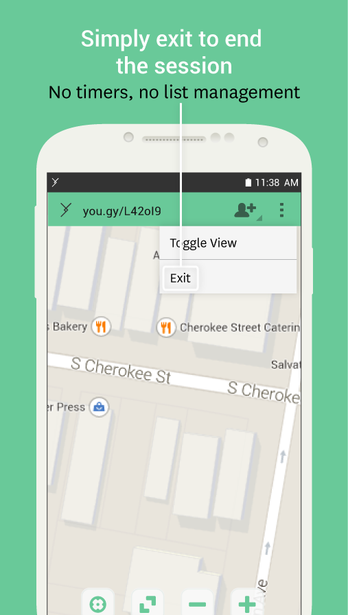 Yougy | Easy location sharing- screenshot