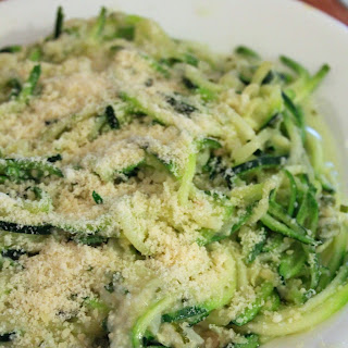 Zucchini Pasta With Cauliflower Alfredo Sauce