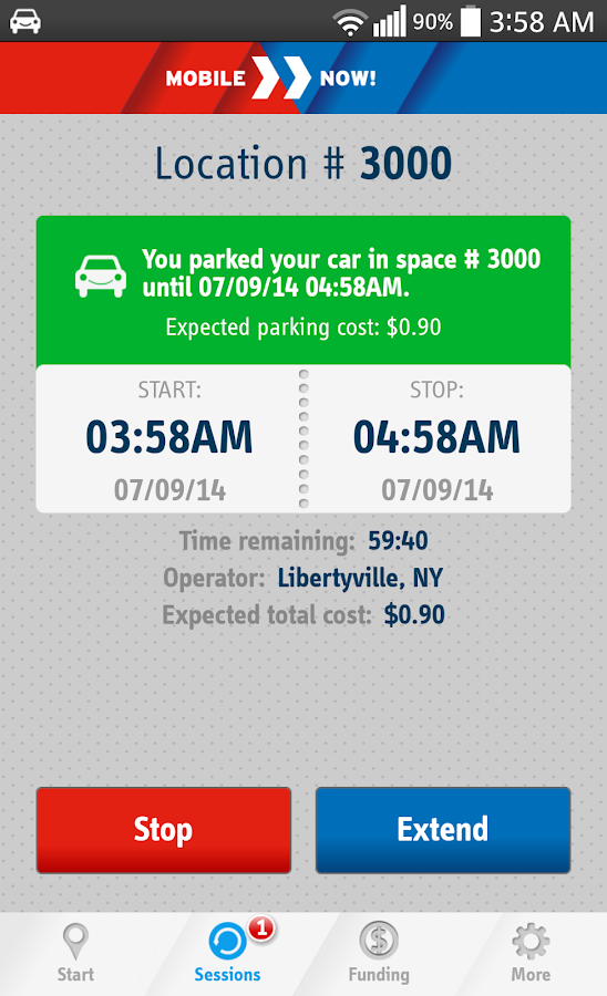 MobileNOW! Parking App for US - screenshot