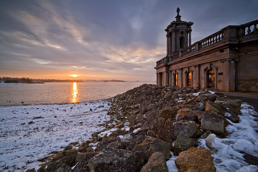 Normanton Church by Ian Pinn - Buildings & Architecture Places of Worship ( water, winter, cold, sunset, snow, rutland )