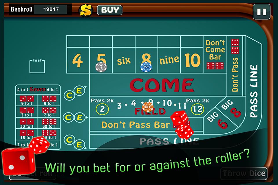 Craps come bet vs place bet