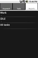 Screenshot of qTimeRec