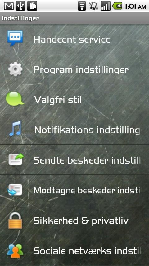 Handcent SMS Danish Language P- screenshot