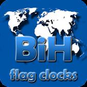BiH flag clocks