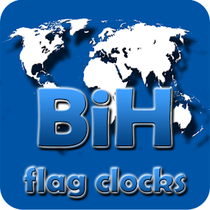 BiH flag clocks