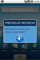 Screenshot of Mi Lector SMS