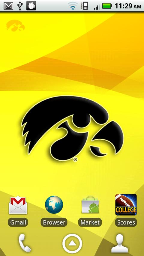 Iowa Hawkeyes Revolving WP - screenshot