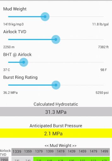 NCS Airlock Hydrostatic Calc