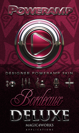 Poweramp skin Bordeaux