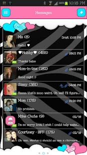 GO SMS - Loving Hearts - screenshot thumbnail