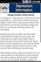 Screenshot of NIH Depression Information