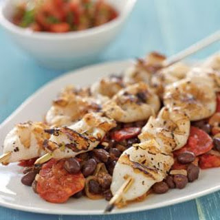 Grilled Squid with Spicy Black Beans