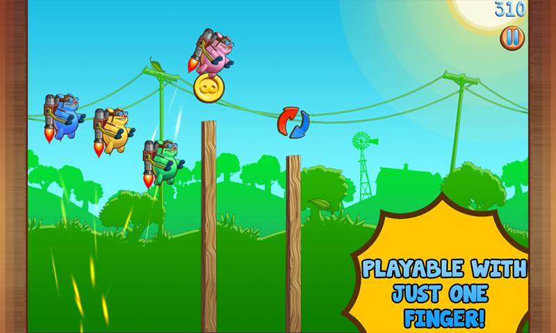 Jetpack Piggies - screenshot