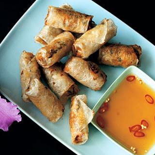 Crab-and-Pork Spring Rolls.