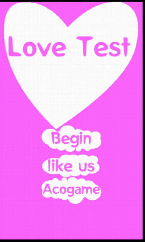 Love Test - screenshot