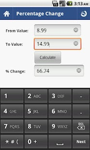 Percent Calculator - Full- screenshot thumbnail