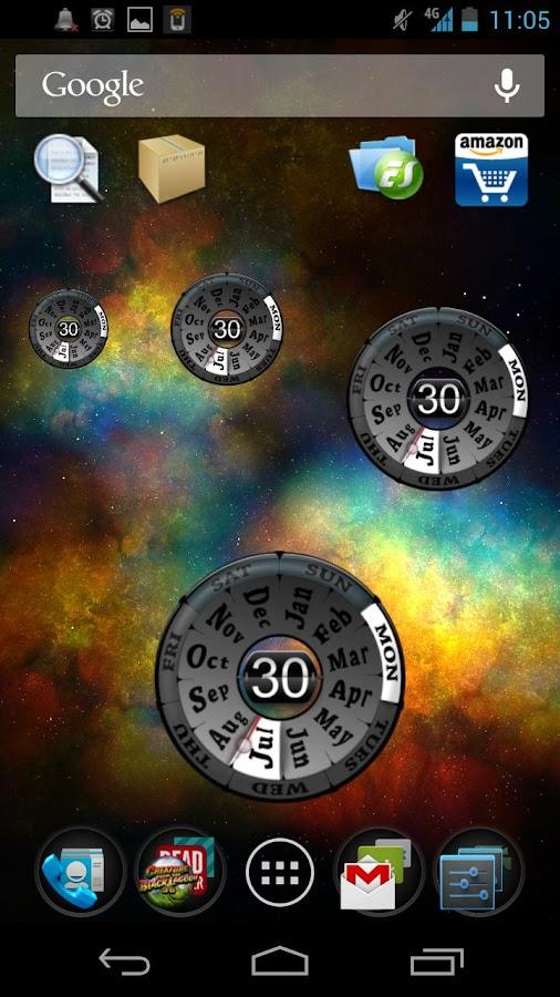 Year Clock Widget- screenshot