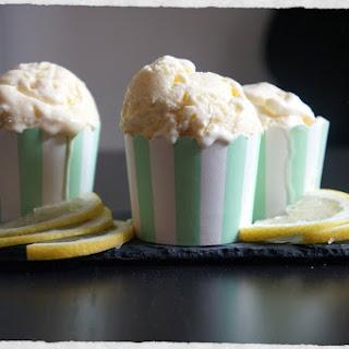 Lemon Ice Cream With White Chocolate Chunks – Made Without An Ice Cream Machine.