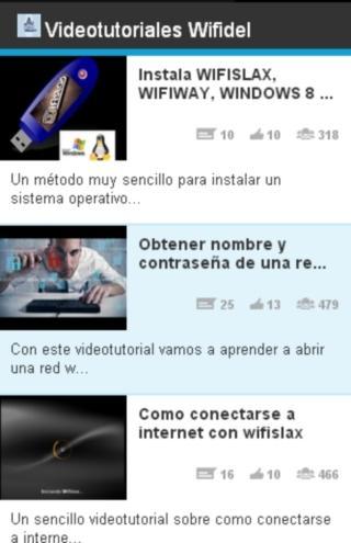 Videotutoriales wifidel