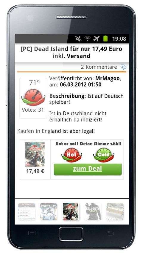 Mein-Deal.com Schnäppchen App - screenshot