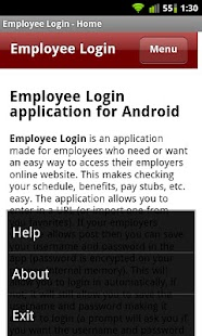 Employee Login - screenshot thumbnail