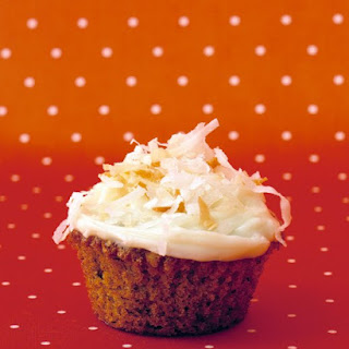 Carrot Cupcakes with Cream Cheese Icing.
