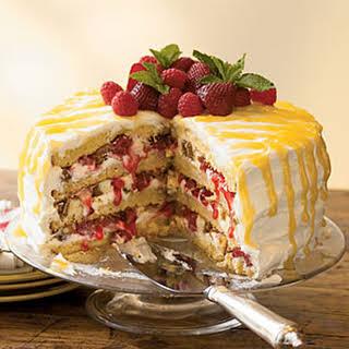 Cheesecake-Stuffed Luscious Lemon Cake.