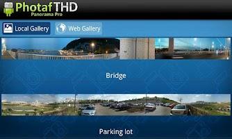Screenshot of Photaf THD Panorama Pro