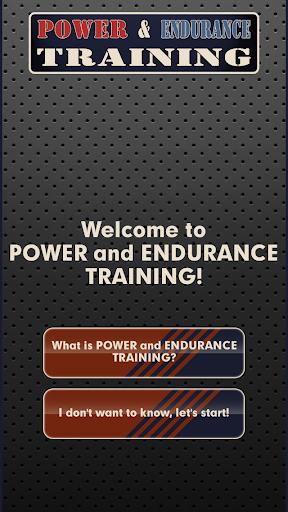 Power and Endurance Training