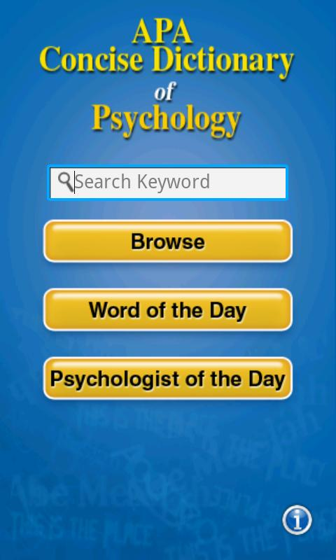 APA Concise Dictionary - screenshot