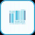 Blue Barcode GO locker theme icon
