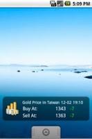 Screenshot of Gold Price in Taiwan (Widget)