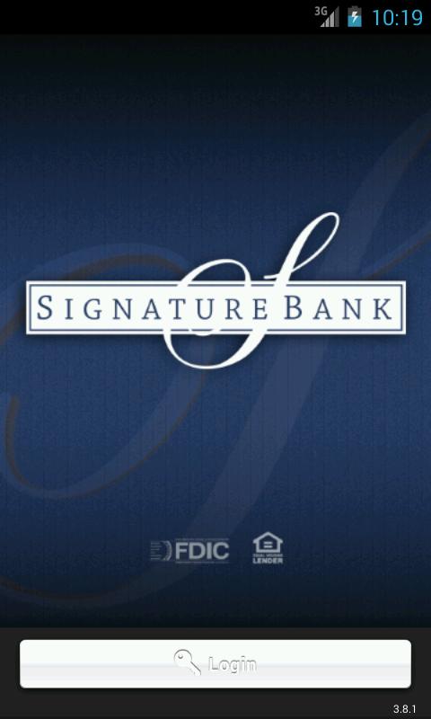 Signature Bank Mobile - screenshot