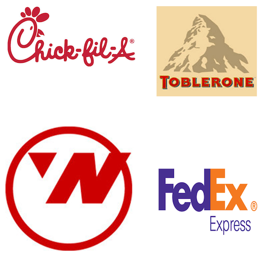 Hidden Images in Logos LOGO-APP點子