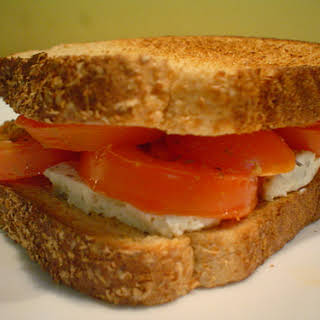 Roasted Tomato and Goat Cheese Sandwich.