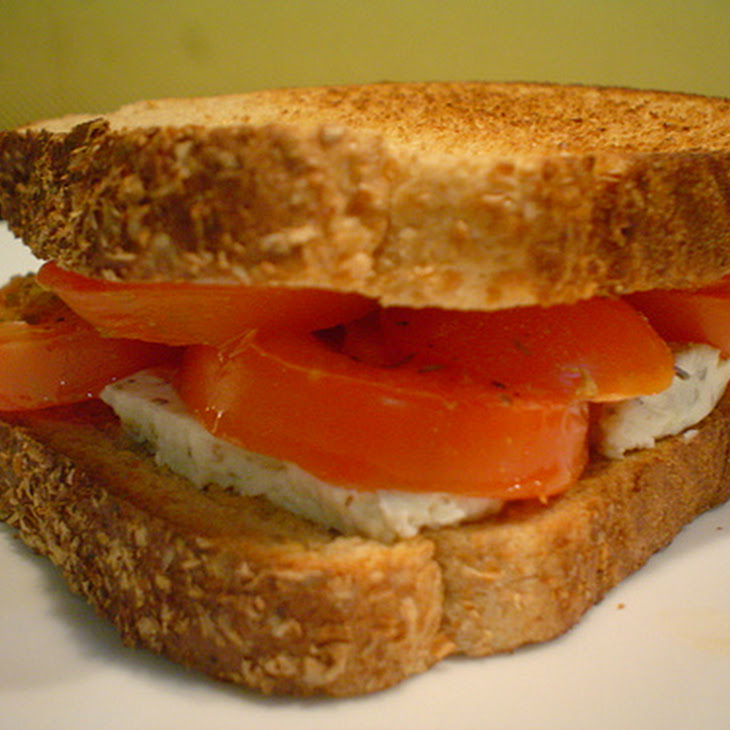 Roasted Tomato and Goat Cheese Sandwich Recipe
