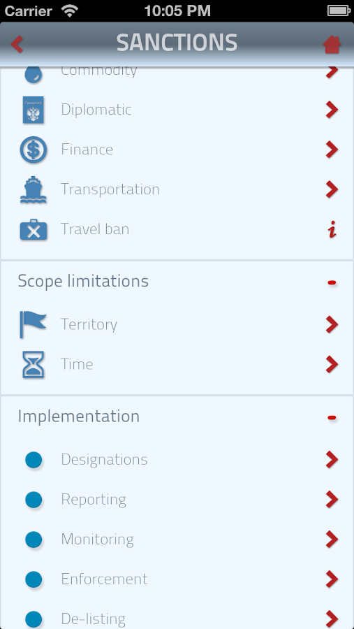 SanctionsApp - screenshot